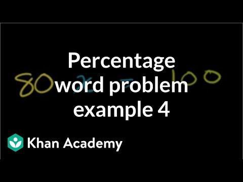 Percent word problem example 4 | Decimals | Pre-Algebra | Khan Academy
