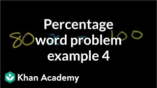 Percent word problem example 4 | Decimals | Pre-Algebra | Khan Academy