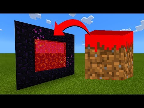 How To Make A Portal To The Minecraft.exe Dimension In Minecraft!