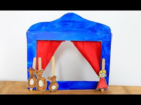 Easy craft: How to make a cereal box puppet theatre