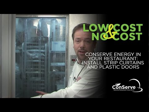 Conserve Energy in Your Restaurant: Install Strip Curtains a