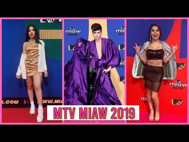 PREMIOS MTV MIAW 2019 - Mejor y Peor Vestidos PINK CARPET