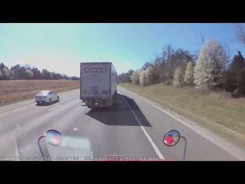 When Semi truck driver is just irresponsible