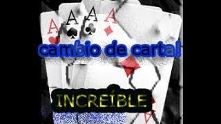 INCREÍBLE CAMBIO DE CARTA!   MAGIA