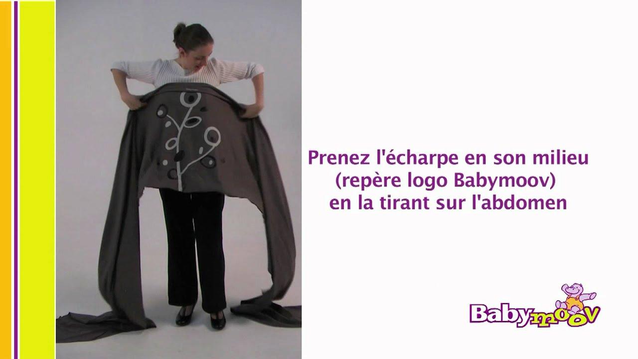 e645f44fbcb Porte-bébé écharpe Babymoov   le portage en berceau - YouTube