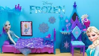 Gambar cover Decoración habitación Elsa FROZEN en español   Cama con dosel de hielo y Tocador de Frozen