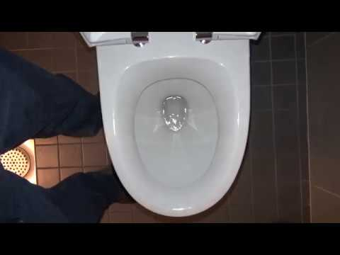Bathroom Tour: IDO urinal and toilet in office building in Helsinki Finland