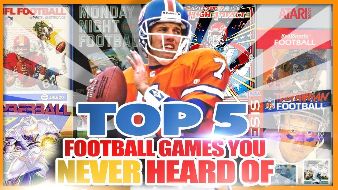 Top 5 Football Video Games You Have Never Heard Of Youtube