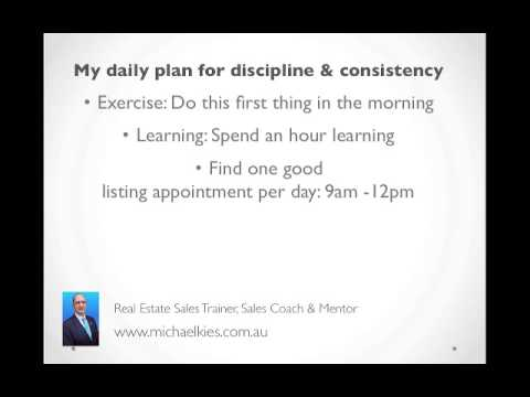 how to create a daily schedule for real estate
