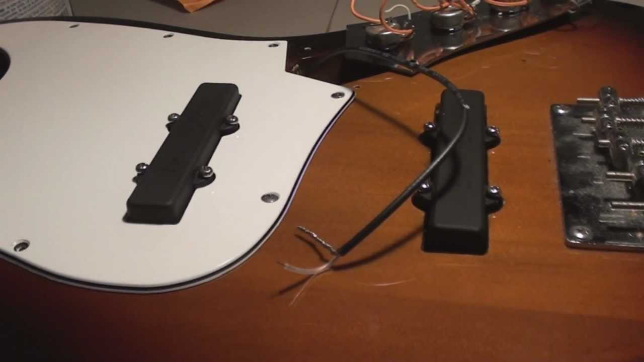 Bartolini Jazz Bass Pickup Install - YouTube