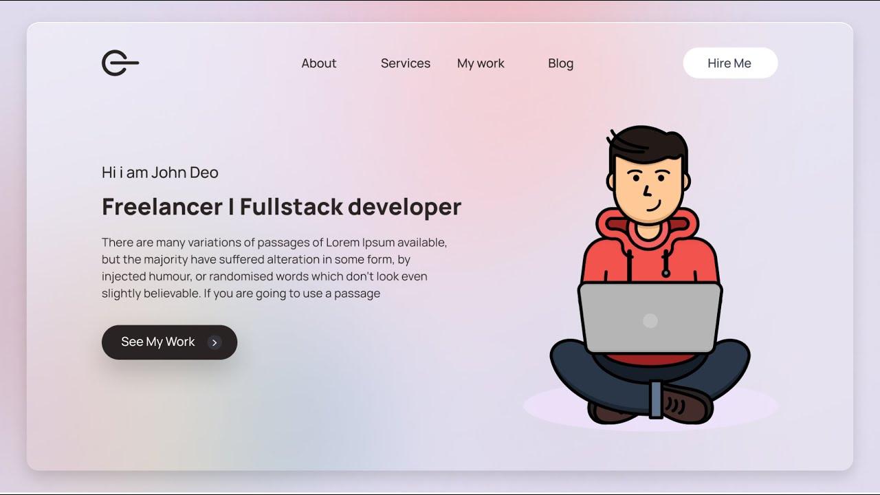 Responsive  Portfolio Website using HTML CSS & JavaScript