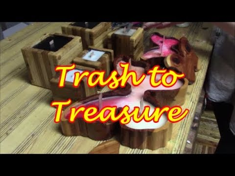 Trash To Treasure ep. 4/ MAN-Candles!  **YK Candle Winner Announced!