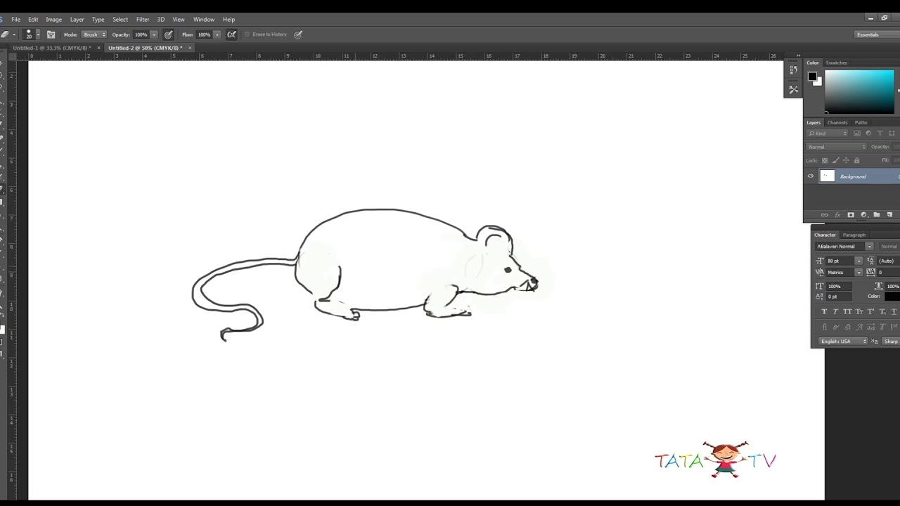 როგორ დავხატოთ თაგვი Youtube