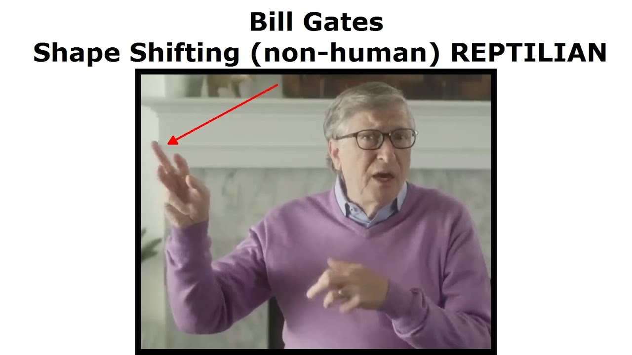 Bill Gates Shape Shifting (non-human) REPTILIAN
