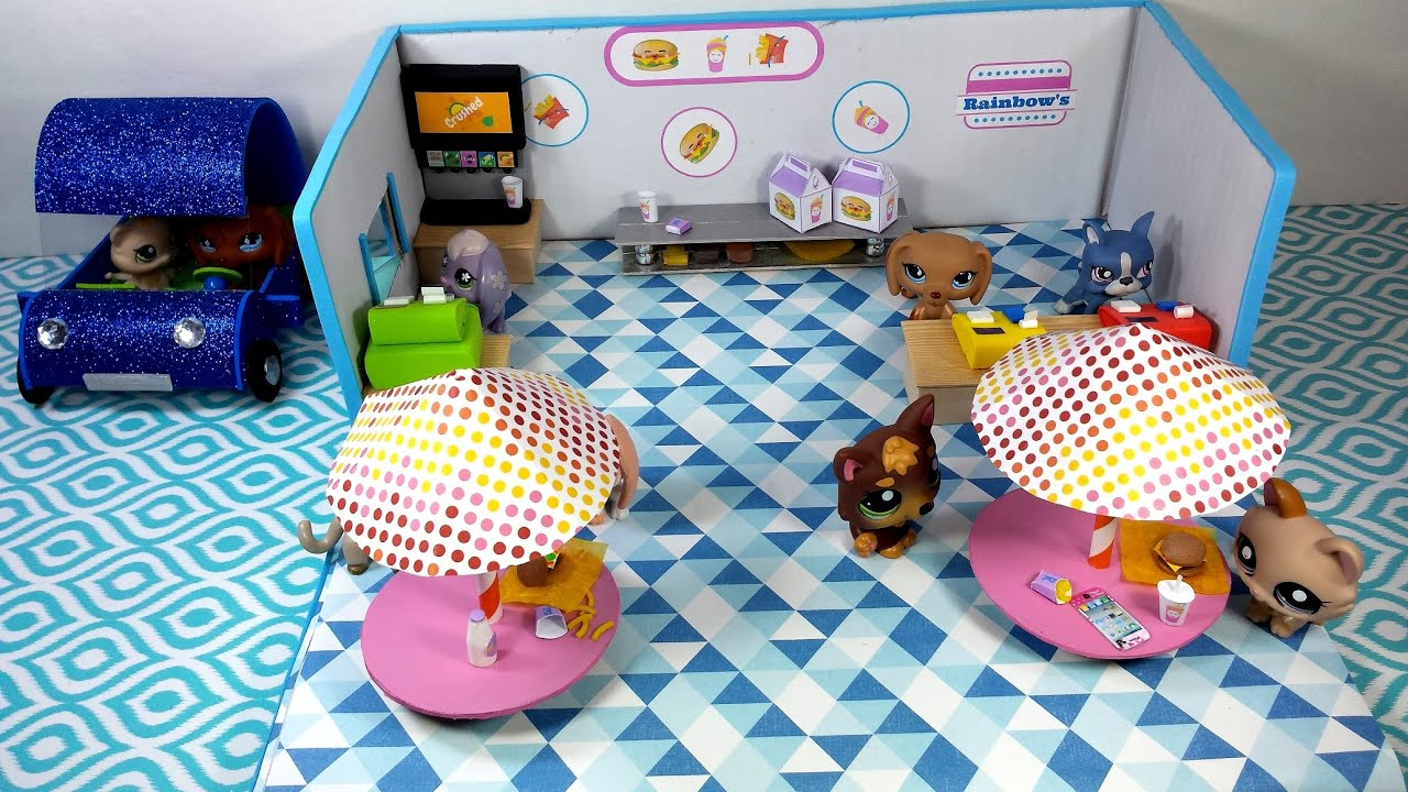 Diy Drive Thru Restaurant For Lps Mlp Or Small Dolls