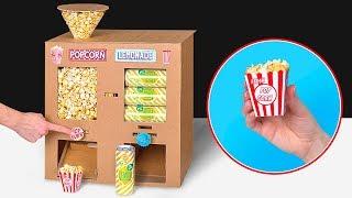 Basteln mit Pappe plus Popcorn plus Limo plus Filme ist gleich Heimkino