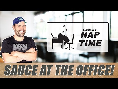 SAUCE AT THE OFFICE: What happens when it's nap time? [VIDEO]