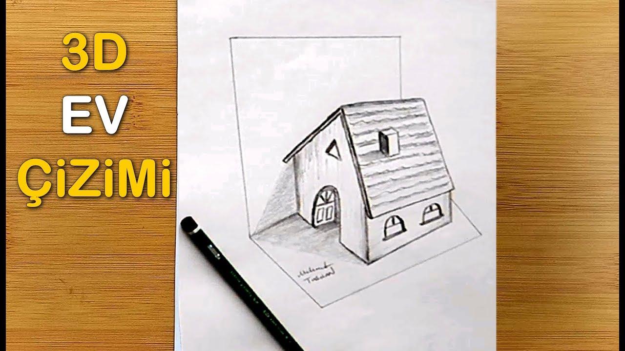 3d üç Boyutlu Ev Nasıl çizilir How To Draw 3d Home Youtube