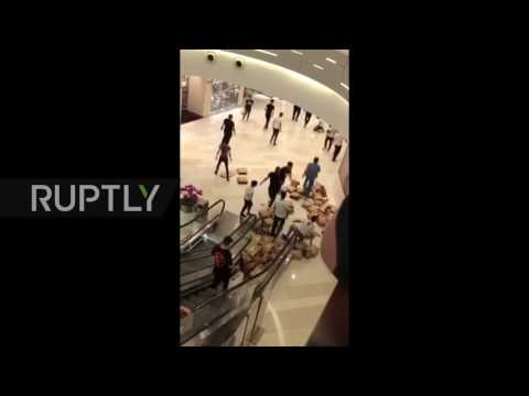China: Fight in Shanghai mall over Adidas shoes as brand's reservation app is hacked