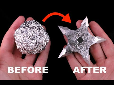 Turning Aluminium Foil into a Shuriken (Ninja Star)