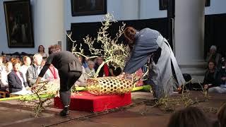 Grand Ikebana Demonstration by Ichiyo Iemoto-Shi Naohiro Kasuya in Bruges 2018