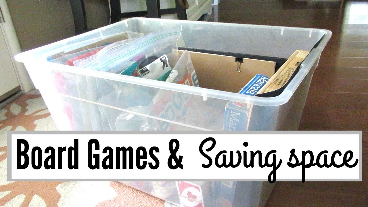 Board Game Storage, Organization, And Upcycle Ideas.   YouTube