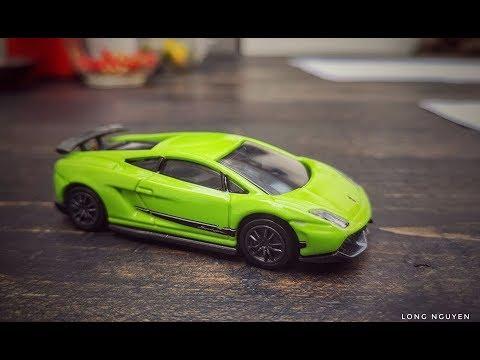 Góc Review - Trên tay Tomica Premium Lamborghini Gallado Superleggera tỉ lệ 1/64