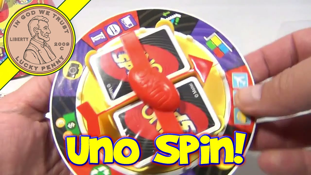 Uno Spin To Go Travel Game, 2009 Mattel Toys