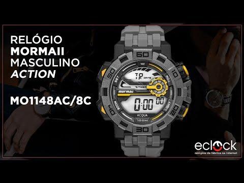 e70b37d0a Relógio Mormaii Masculino Action MO1148AC8C - Eclock