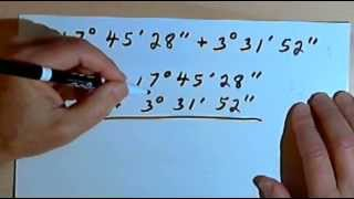 Angle Measures - degrees, minutes and seconds 128-2.2