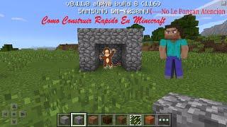 Como Construir Mas Rapido En Minecraft