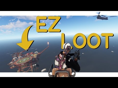 Rust - The Easiest Oil Rig Take Down! It's Raining Airdrops! thumbnail