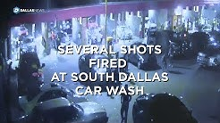 Several people run after shots were fired a South Dallas car wash