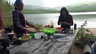 Озеро Шебеты. Прибытие экспедиции.