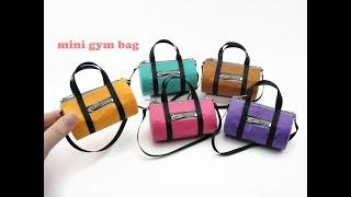 DIY Miniature Doll Mini Gym Round Bag