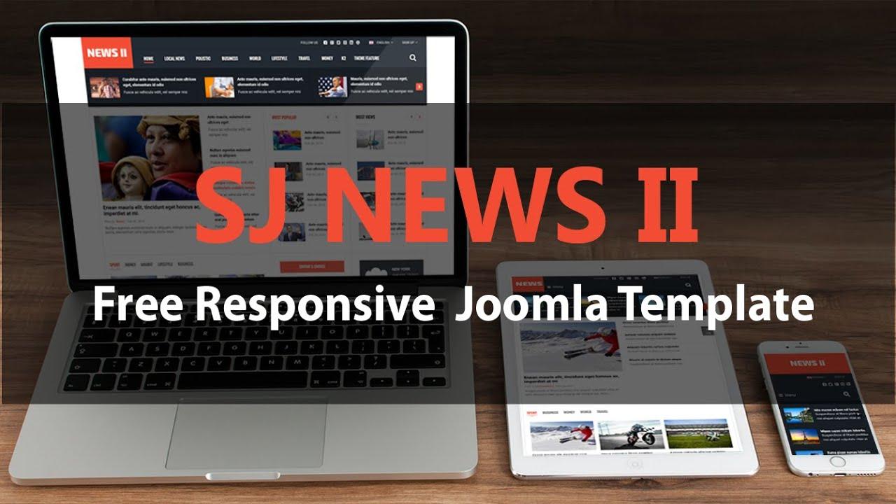 Quick tour sj news ii free responsive joomla template youtube youtube premium maxwellsz