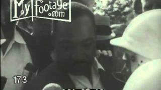 Stock Footage - Martin Luther King Jr. - Housing march in Gage Park, Chicago 1966