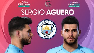 PES 2021 Sergio Agüero Hair update Manchester City PES 2020