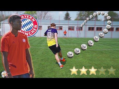 FC Bayern Profi David Alaba BEWERTET unsere Freistöße 😱