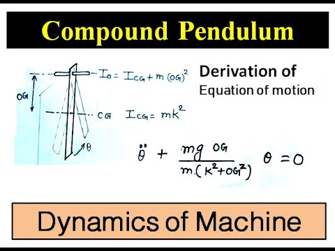 Concept Of Compound Pendulum || Dynamics Of Machine || Lecture 5