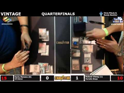 Vintage Champs Quarterfinals Dario Moreno (UR Delver) vs Roland Chang (Martello Shops)