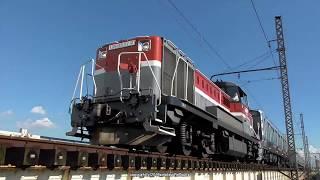JR貨物 南海電鉄8300系甲種輸送を城東貨物線神崎川橋梁で撮影(R1.9.10)