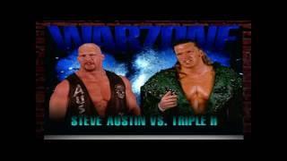 WWF War Zone PlayStation 1 Stone Cold Steve Austin Challenge Mode