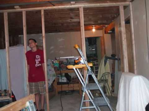 Sweat equity bi level basement remodel youtube for Bi level basement ideas