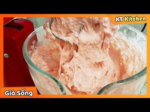 Cách Làm GIÒ SỐNG - GIÒ LỤA Trắng Giòn Và Dai Thật Ngon || Homemade Pork Paste | KT Food