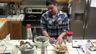 Bodybuilding Meals - Salad W/ Poppyseed Dressing, Chicken, Rice
