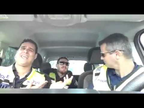 Jerusalem police oficers singing