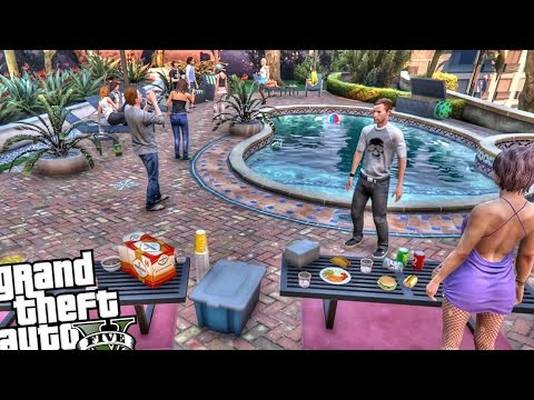 Franklin's House Party | Gta 5 Mod Showcase