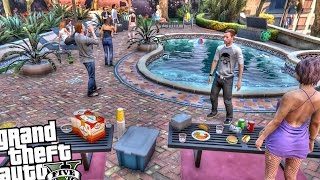 Franklin's House Party | Gta 5 Mod Showcase