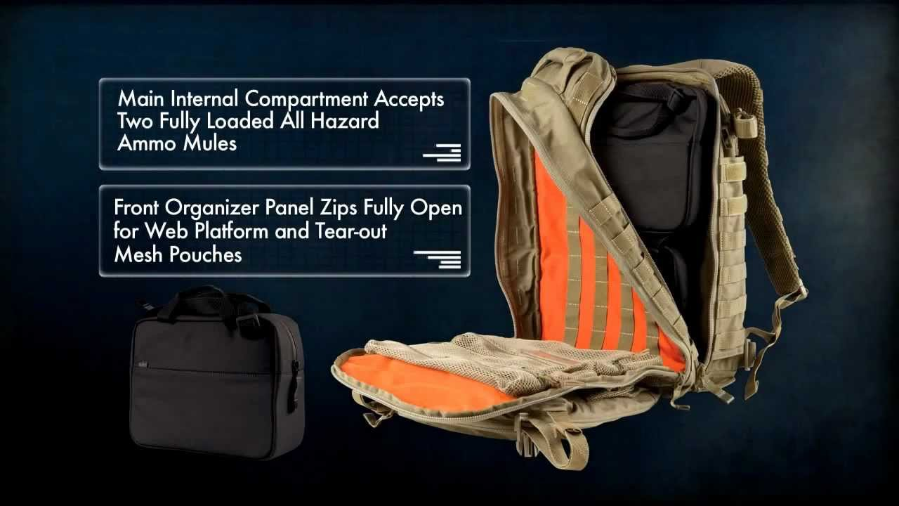 5.11 Tactical All Hazards Prime Backpack - YouTube